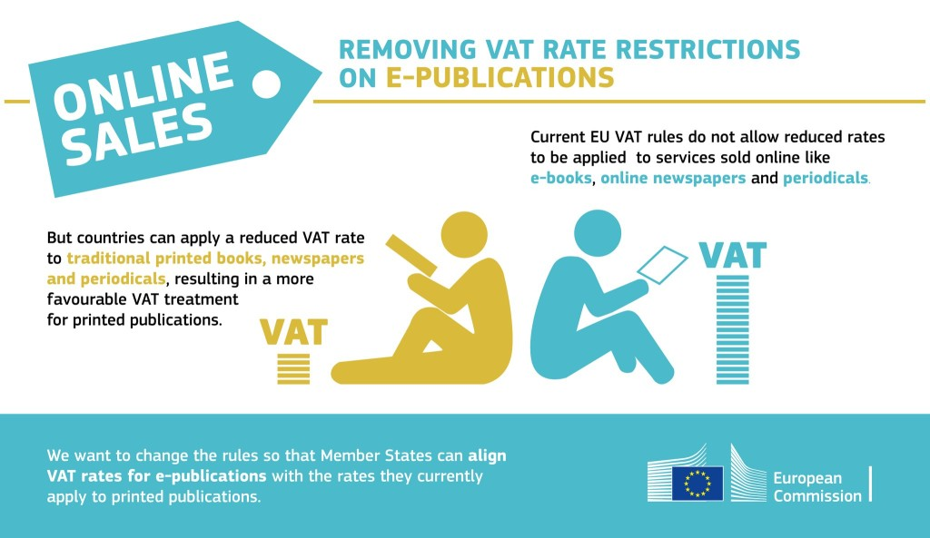 European Commission - Removing VAT rate restrictions on e-publications