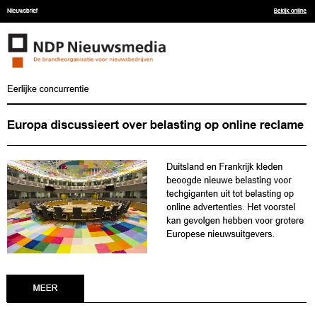 Nieuwsbrief NDP Nieuwsmedia