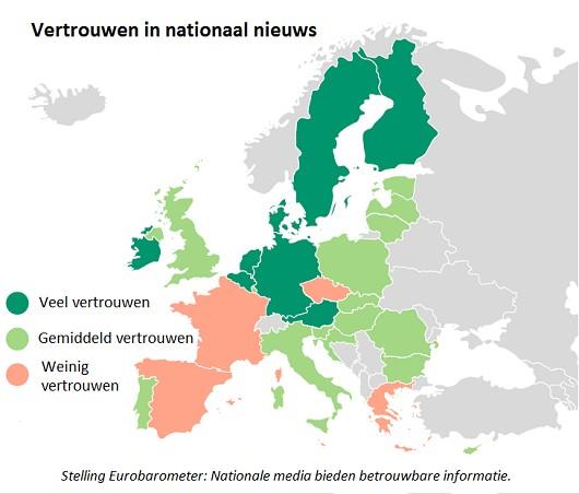Vertrouwen in nieuws Europa